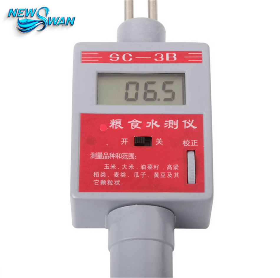 SC-3B Grain Moisture Meter Water Meter Wheat Rice Rape Corn Soybean Sorghum Determination of Food Moisture system of wheat intensification swi new trend of wheat cultivation
