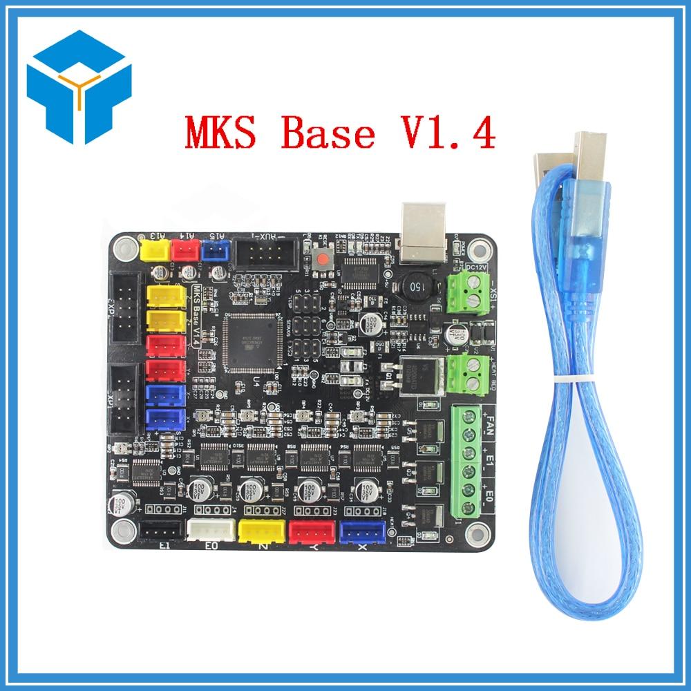 3D Printer part parts MKS Base V1.4 Control Board materinskaya plata Mega 2560 R3 Motherboard RepRap Ramps1.4 Compatible 3d printer motherboard mks base v1 3 one board ramps1 4 reprap compatible