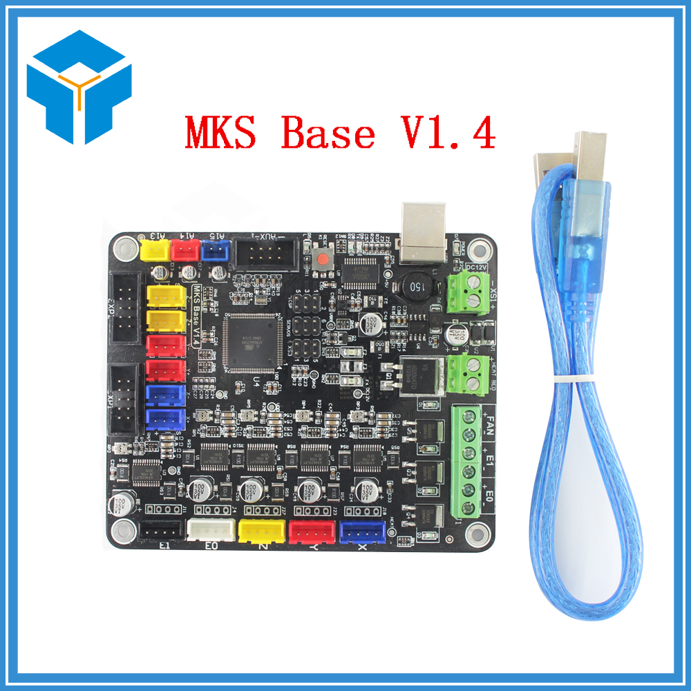 TEVO 3D Printer part parts MKS Base V1.4 Control Board materinskaya plata Mega 2560 R3 Motherboard RepRap Ramps1.4 Compatible latest mks gen v1 4 control board mega 2560 r3 motherboard reprap ramps1 4 compatible with usb and 5pcs tmc2100 3d printer