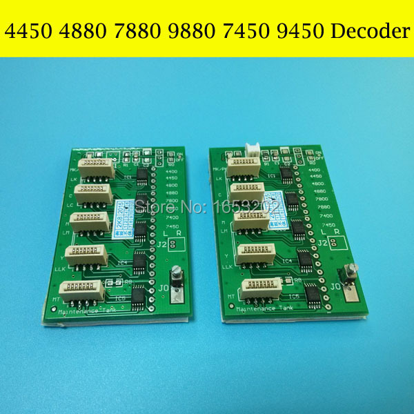 NEW Decoder For Epson Stylus PRO 9450 4880 7450 9880 Printer Chip Decoder Card for epson stylus pro 9800 9880 pf motor