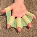 1 Par de Silicona Dedo de Rana Aletas de Natación Guantes Palmeados Mano Paddle Palma Juguete Deporte de Los Niños