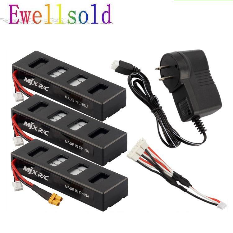 3PCS battery and charging charger for B3 little monster brushless helicopter 7.4V 1800mah 25C aircraft battery