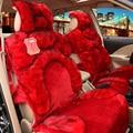 Female car seat winter plush cushion four seasons general car seat winter car pulvinis