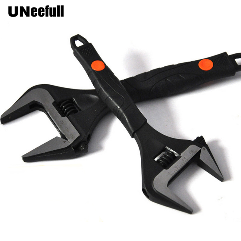 UNeefull Opening Adjustable Wrench 6-12 Inch,bathroom Maintenance Wrench,Repair Air Conditioning Torque Wrench Mutil  Hand Tool