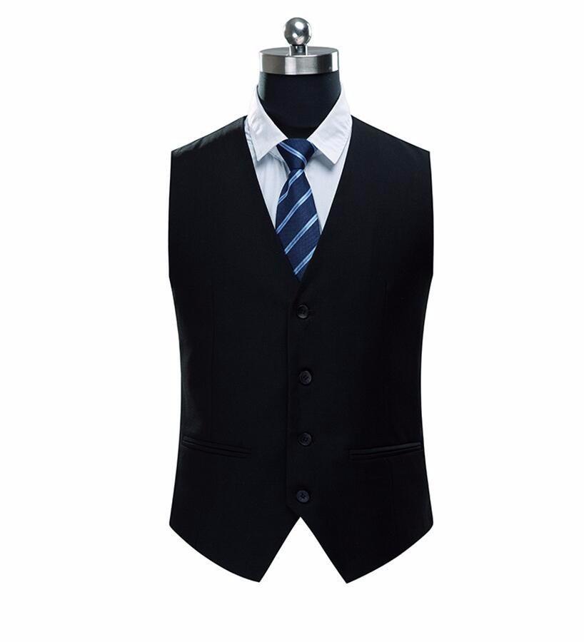 16.1 New Arrival Mens Suit Vest High Quality brand Fashion style Slim Men\'s solid color Waistcoat Men Suit vest custom make