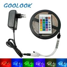 LED Strip Light RGB Strip 2835  LED llight Tape emitting diode 3528 Led Lamp Ribbon DC12V Led Flexible RGB Light Tape Full Set