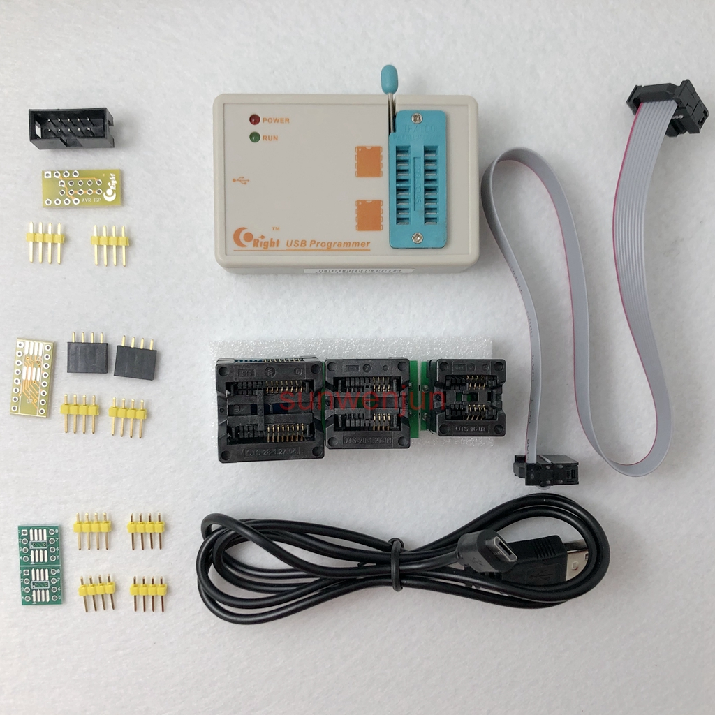 SkyPRO High-speed USB SPI Programmer for 24/25/93/EEPROM/Flash/AVR/MCU+3adapter