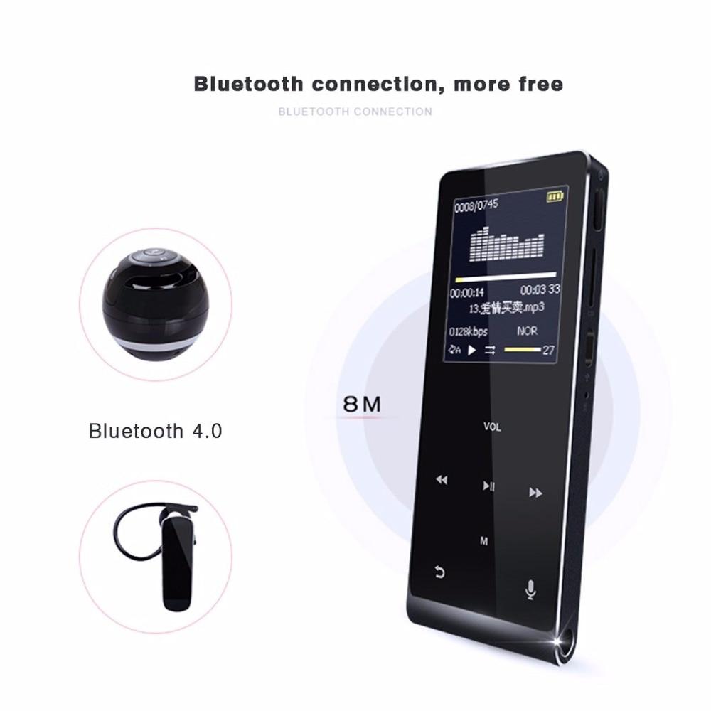 Metal Bluetooth MP3 HIFI Music Player Support TF Card Voice Recording Step Counter Mini Walkman Touch Screen Drop ship