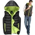 free shipping XXXL 2013 autumn/winter outdoors women/men's new thicken cotton vest jacket casual fashion hooded waistcoat D921