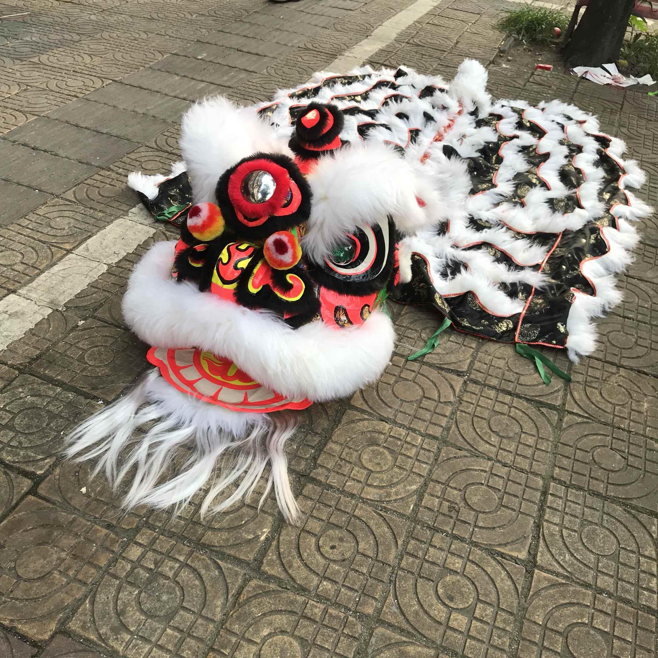 Фошань, австралийский шерстяной костюм льва для танцев, костюм талисмана, шерстяная Китайская народная живопись, Южный Лев, два взрослых, косплей, вечерние, для игр, реклама