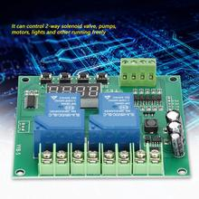 12v 24v LED Digital Time Delay Relay YYB-5 Motor Forward / Reverse Control Board Two Timing Cycle Module
