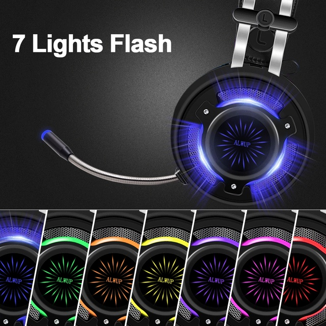 Gaming Headphones for Computer PC Games Wired Earphone Led HD Bass USB Gaming Headset for PS4 Xbox one with microphone