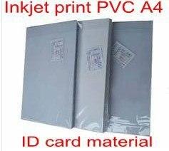 ПВХ ID-карты, делая поставки материал для Струйной печати пвх A4 50 sets белый цвет 0.76 мм толщиной: 15 мм + 46 мм + 15 мм