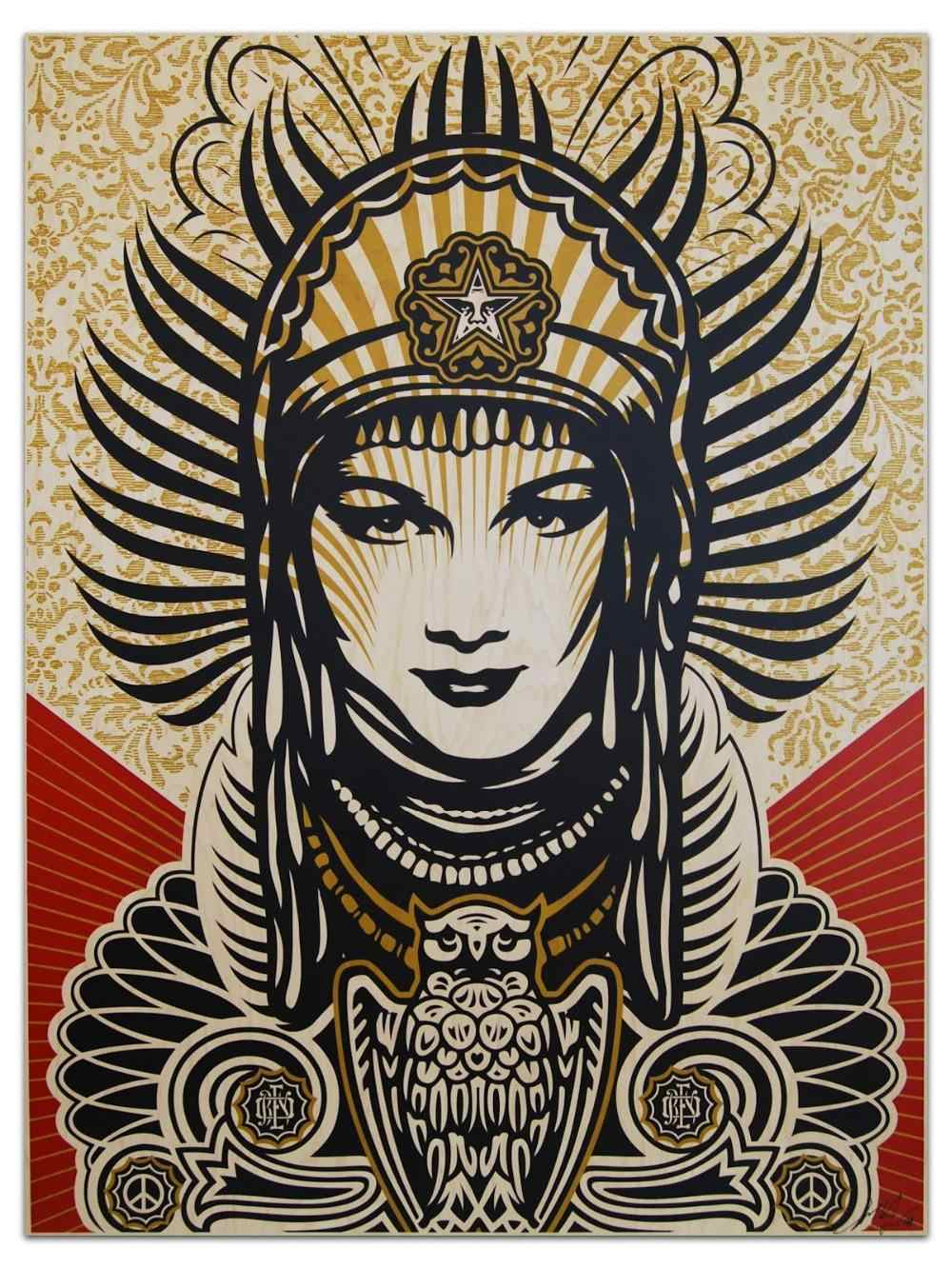 Classical Shepard Fairey Peace Goddess Art Print High Quality Home Decor wall paintings Living Room Bedroom poster
