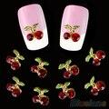 10 pcs Brilhante Cereja Shape 3D Nail Art Rhinestone Studs Manicure Glitters Cristal 8THH
