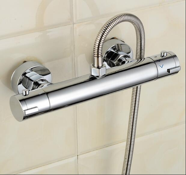 high quality brass wall mounted chrome thermostatic shower faucet china sanitary ware chrome wall mount thermostatic water tap water saver thermostatic shower faucet
