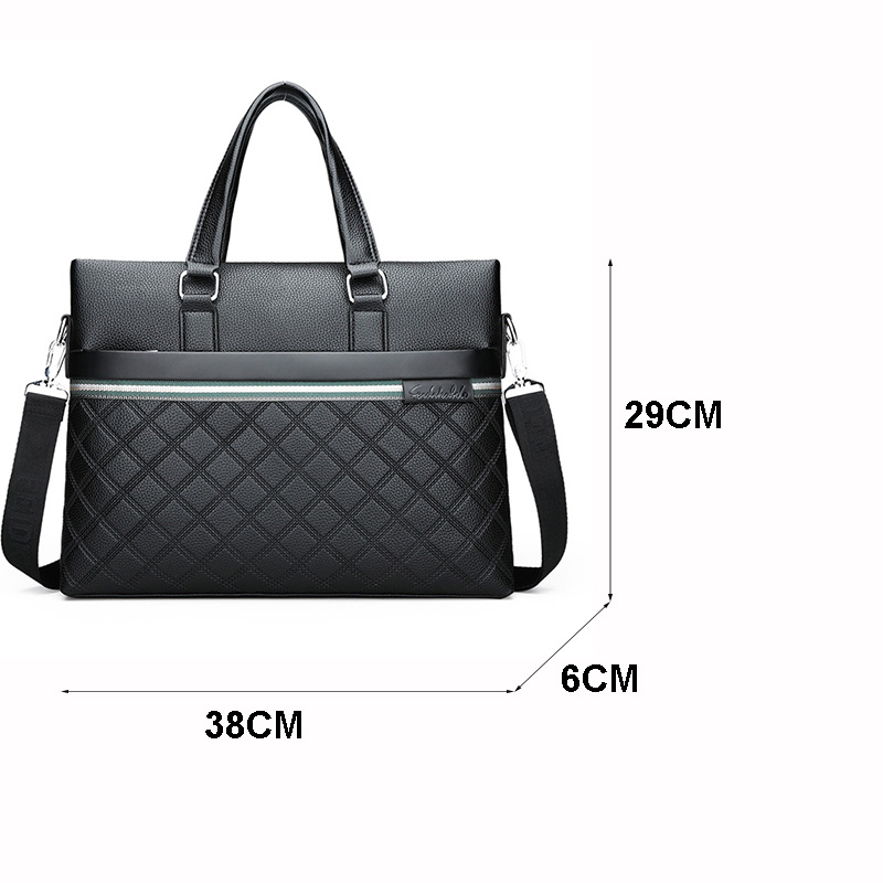 HTB1HiKmn3mTBuNjy1Xbq6yMrVXaX Classic Plaid Design Business Man Bag Vintage Brand Men's Messenger Bag Casual Business Male Shoulder Bags For Male bolsa Hot