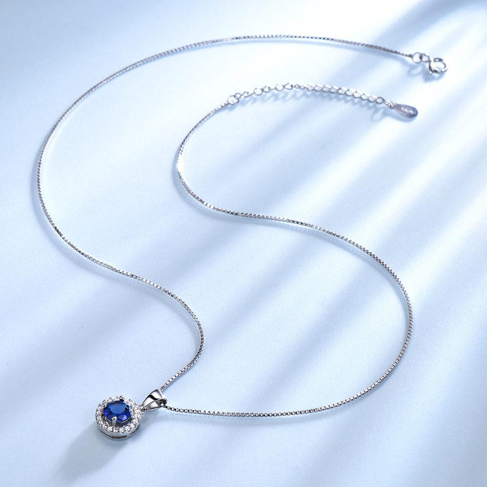UMCHO 925 ստերլինգ արծաթյա զարդեր, որոնք - Նուրբ զարդեր - Լուսանկար 2