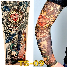 1 Pc Tattoo Sleeves W-09 Styles Elastic Fake Nylon Arm Stockings Beloved Girl Design Halloween Tatoo Sexy Women