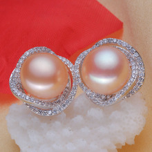 925 silver real natural big bright pearl natural freshwater pearls rich money 12mm 13mm font b