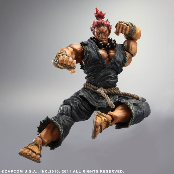 PLAY ARTS KAI Street Fighter IV 4 Gouki Akuma PVC Action Figure Collectible Model Toy 24 cm KT3503 ultra street fighter iv