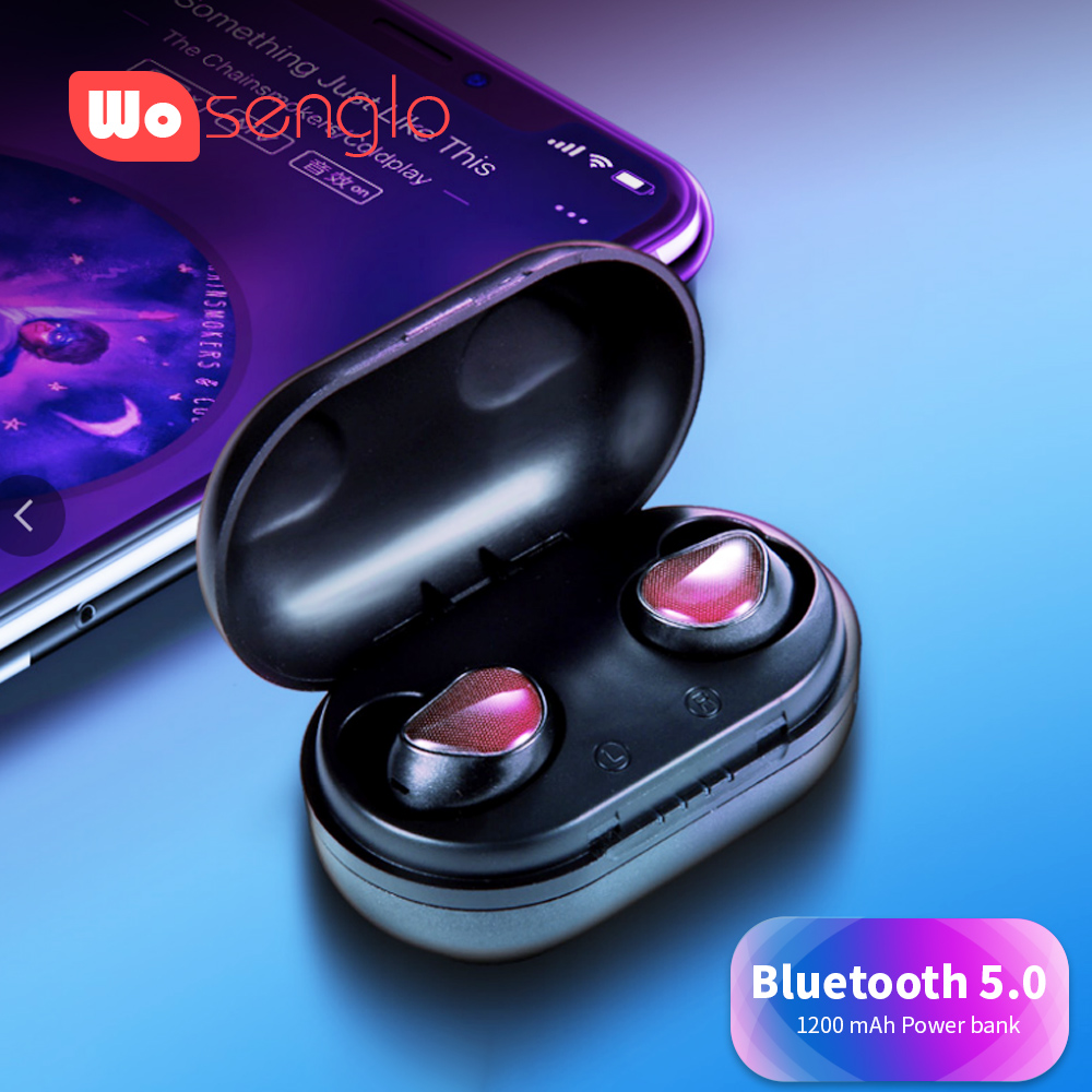 Wireless Headphone Bluetooth Earphone 5.0 Gamed Music in ear Earbuds with Charging Box For Samsung Sony Huawei OPPO Vivo iPhone tws 5 0 bluetooth earphone touch control stereo music in ear type ipx6 waterproof wireless earbuds with charging box yz209
