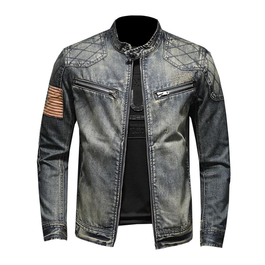Spring Autumn 2019 Denim Jacket Men Hip Hop Clothing High Quality Business Casual Zipper Jeans Jacket Coat Male Coats Streetwear