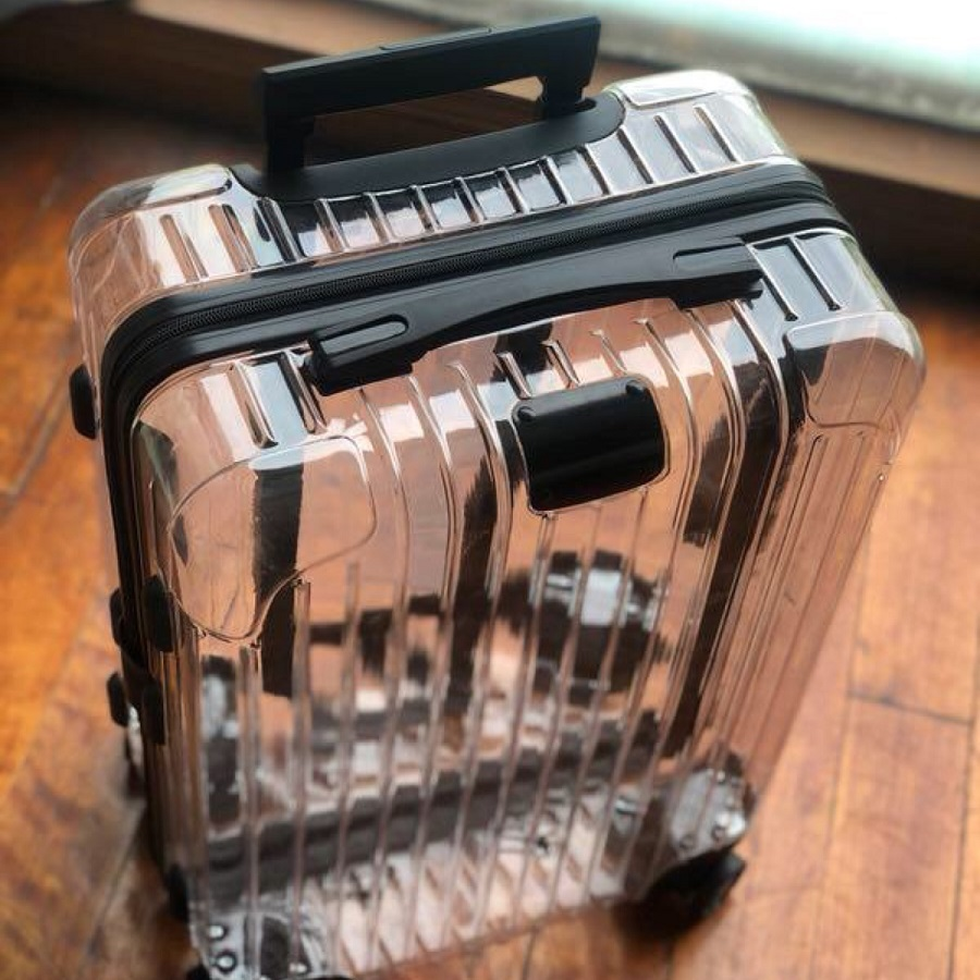 High-end Trend Zipper Luggage 20/24 Inch High Quality Transparent PC Spinner Travel Bag Rolling Luggage