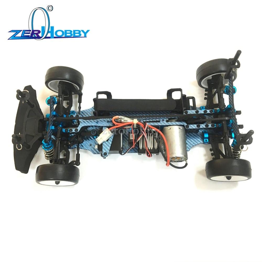 Châssis de dérive d'échelle de S120011 102-17-30 1/10, fibre de couleur standard de R3