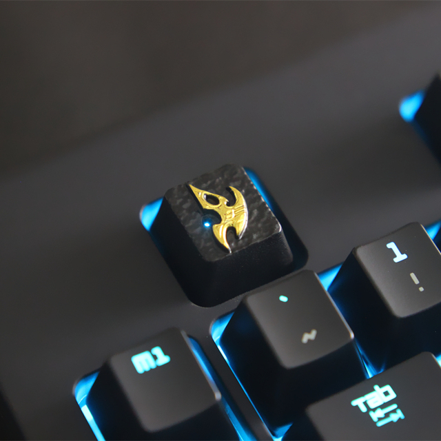 58ee2041bf4 1pc zinc-plated aluminum alloy ZNAL903 key cap for StarCraft 2 Protoss  Mechanical keyboard Stereoscopic relief keycap R4 Height
