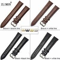 коженный ремешок для часов ремешки для наручных часов черный браун гладкие натуральная кожа смотреть группы ремень мужские женские часы ремень металлической пряжкой relojes hombre 2016