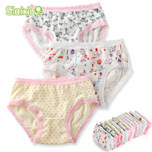 hot deal buy 6pcs/lot 100% organic cotton baby girls briefs high quality kids briefs shorts panties for children's underwear clothes 2-8 y