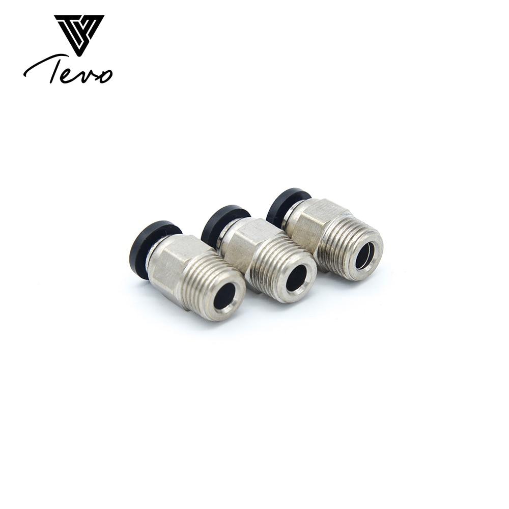 10 unids conector neumático PC4-01 1,75mm Tubo de PTFE de acoplamiento rápido de entrada para J-cabeza accesorios Reprap salida Hotend encaja 3D impresora
