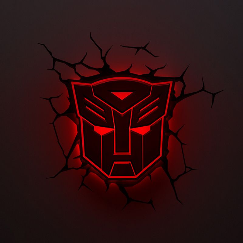 Creative Autobots LED 3D Nightlight Decepticons for Kid Boy Gift Wall Decoration Holiday Party Lighting IY303167-2 creative led 3d nightlight hockey for kid boy gift wall decoration holiday party hockey lighting iy303166 5