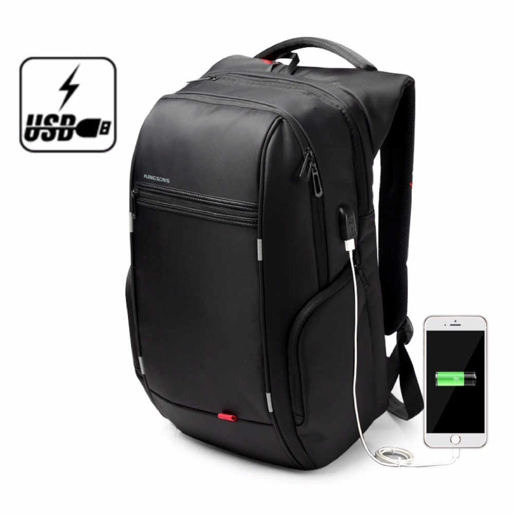 Kingsons Brand Antitheft Notebook Backpack 15.6 inch ...