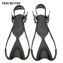 Aletas de natación ajustables Flipper aletas de buceo para niños aletas de natación cómodas portátiles tamaño KIDS 24-35