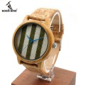 BOBO BIRD New Style Men's Bamboo Wood Wristwatch Resin Materials Strap Glow Analog Watches With Japanese Movement In Gift box