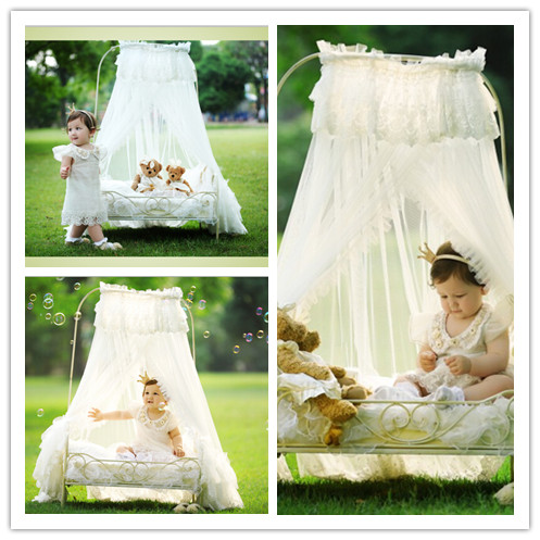 Newborn Photography Props Baby Bed 100 Days Baby Shooting Studio Interior And Exterior Small Iron Bed