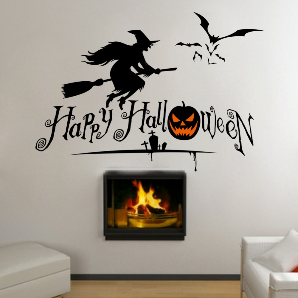 online get cheap skull wall decals aliexpress com alibaba group 3 designs happy halloween pumpkin skull wall stickers for kids room living room bedroom halloween party wall decal home decor