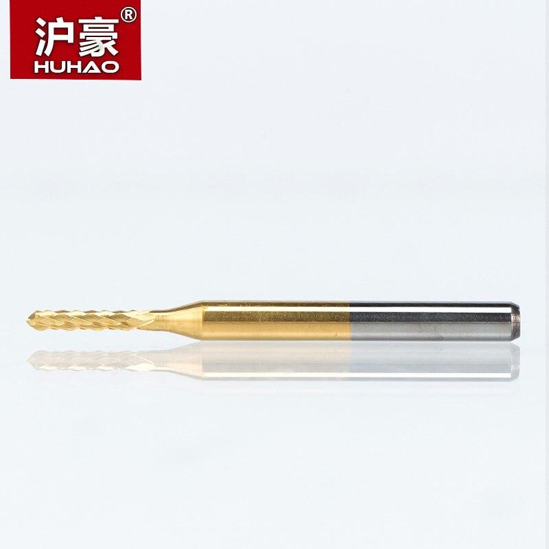 HUHAO 10 pz / lotto 0.6-3.175mm TiN Rivestimento fresa per mais Fresa - Macchine utensili e accessori - Fotografia 4