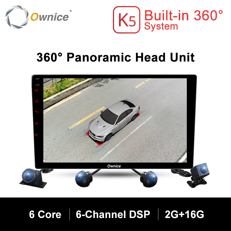 Ownice K5 Android 7 1 360 Panoramic View System Universal Car Radio GPS  Navigation DVD With 4 HD Rear Backup Front Side Camera (HOT PRICE July 2019)