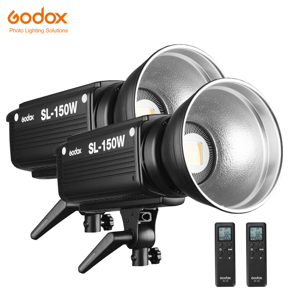 Free DHL 2PCS Godox SL 150W 150WS 5600K White Version LCD Panel LED Video Light Continuous