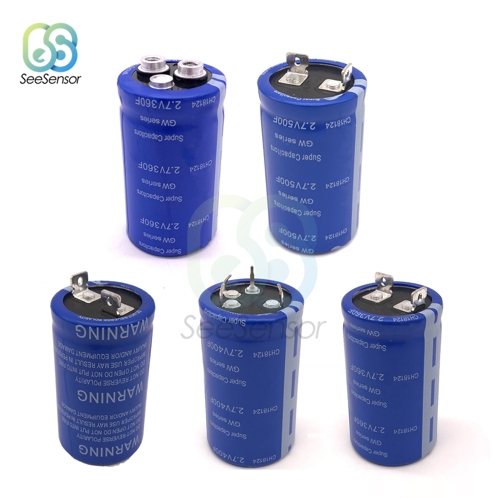 Super Farad Capacitor 2.7V 360F 400F 500F Super Capacitors For Car Vehicle Auto Power Supply
