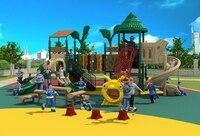 School Kindergarten Park Community Plastic Slide Equipment Outdoor Combined Slide Playground YLW023