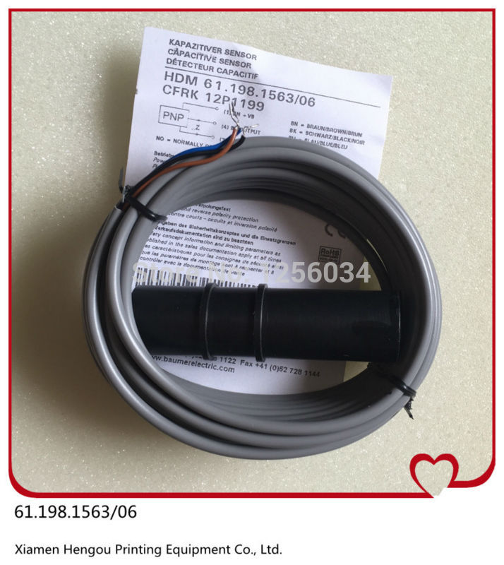 1 piece sensor for SM102, sensor for CD102 heidelberg, printing machinery parts 61.198.1563/06 heidelberg sm102 printing parts intermediate roller bracket