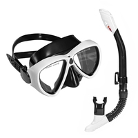 Scuba Diving Mask Snorkel Sets Silicone Adult Anti fog Underwater Snorkeling Wide Vision Dive Equipment Swimming Goggles