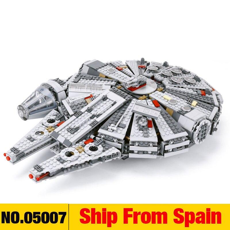 La Force éveille la série Star Set Wars Compatible avec les figurines de faucon du millénaire 75105 modèles de blocs de construction jouets pour enfants