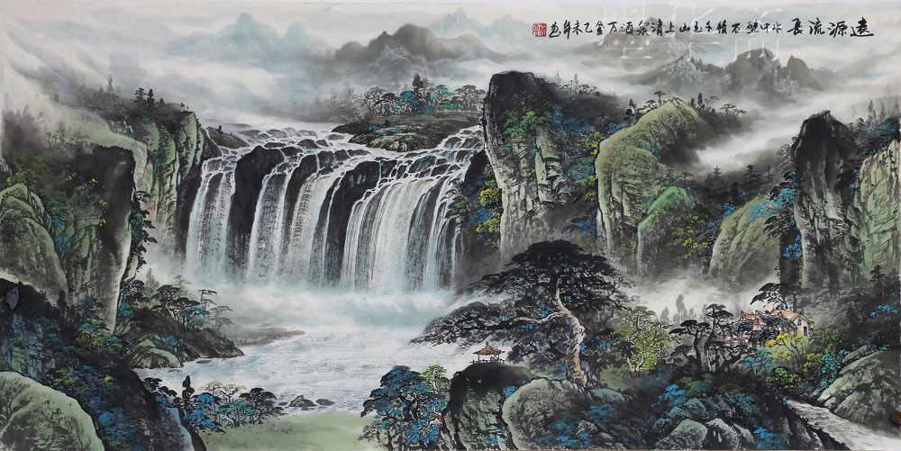 Traditional Chinese Painting Calligraphy Landscape Artwork