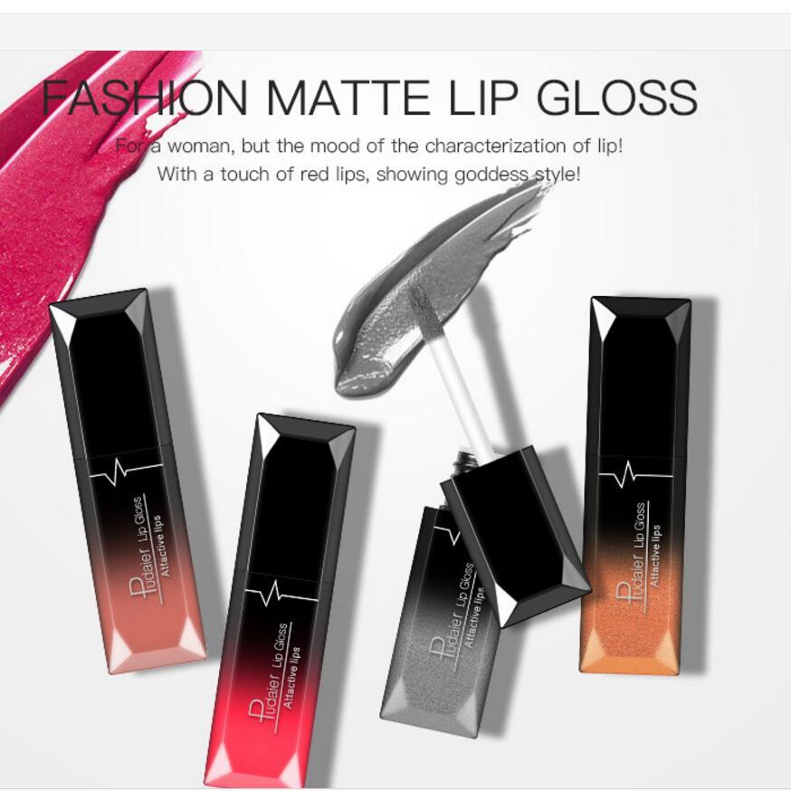 Hot Sales Waterproof Nude Matte Velvet Glossy Lip Gloss Lipstick Lip Balm Sexy Red Lip Tint 21 Colors Women Fashion Makeup Gift 2