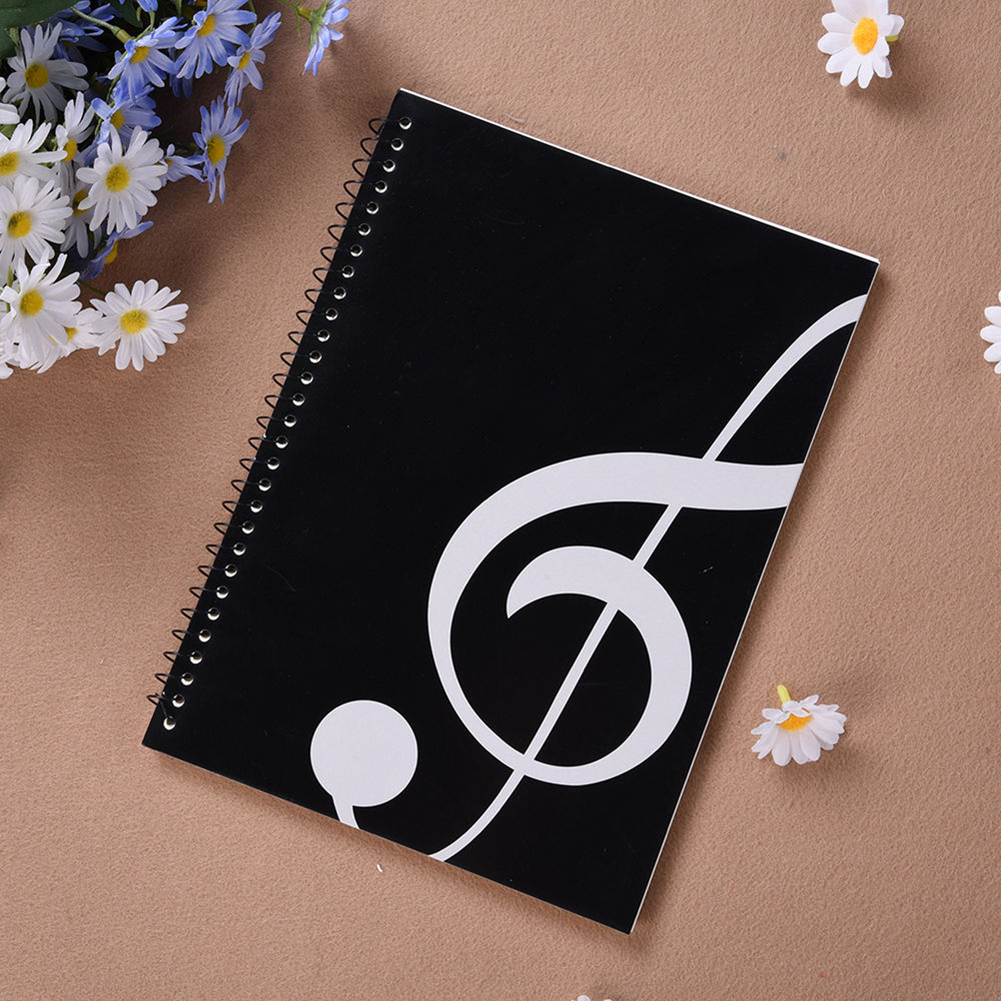50 Pages Music Sheet Spiral Notebook Stave Staff Manuscript Paper Exercise Book new 50 pages mozart musical sheet manuscript paper stave notation notebook spiral bound